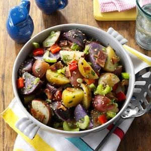 Red, White & Blue Potato Salad -served warm or room temperature ...
