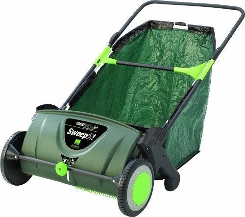 Push lawn sweeper 26 gallon leaf vacuum garden yard care for Outdoor garden equipment
