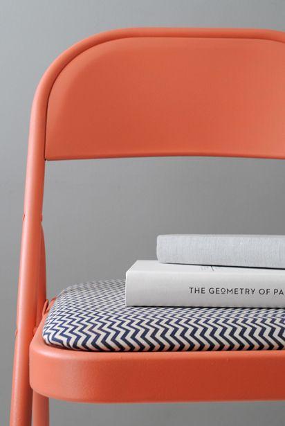 Folding chair makeover by Christine Wisnieski | Design For Mankind