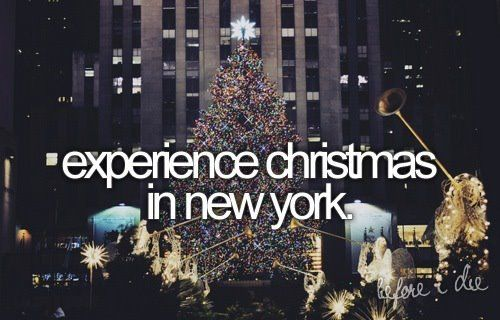 Experience Christmas in New York = Check