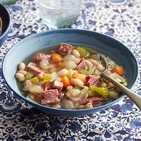 Ham & Bean Stew So easy... just ham, celery, onions, carrots and ...