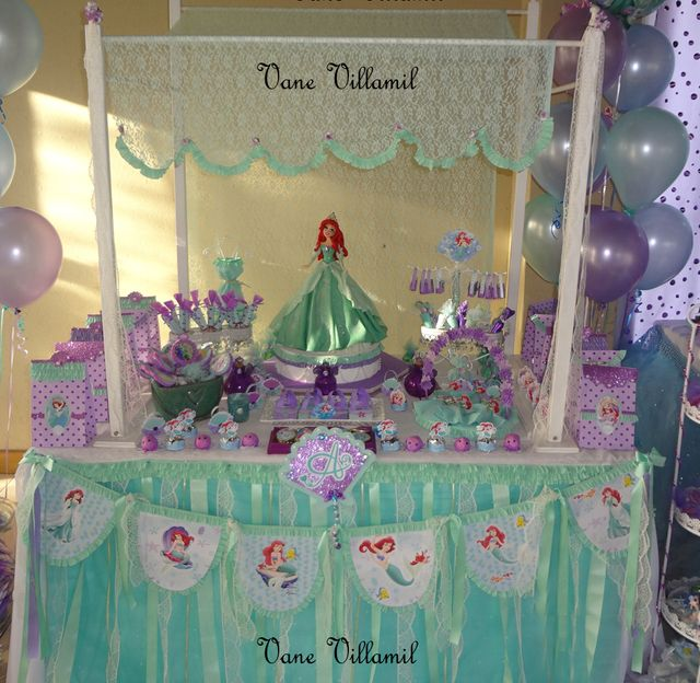 The little mermaid birthday party ideas for Ariel party decoration ideas