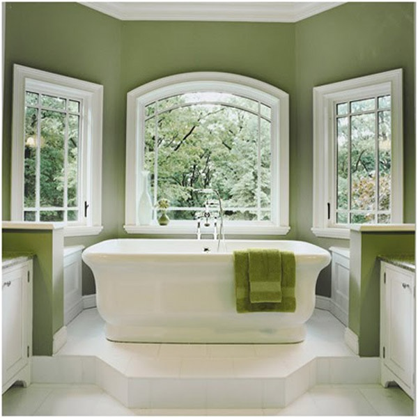 Dark sage green bathroom designforgeuk color palettes for Green bathroom paint colors