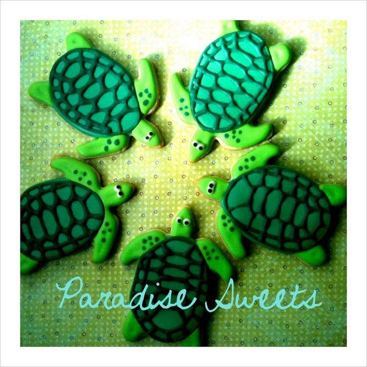 Sea Turtle Sugar Cookies - 1 Dozen