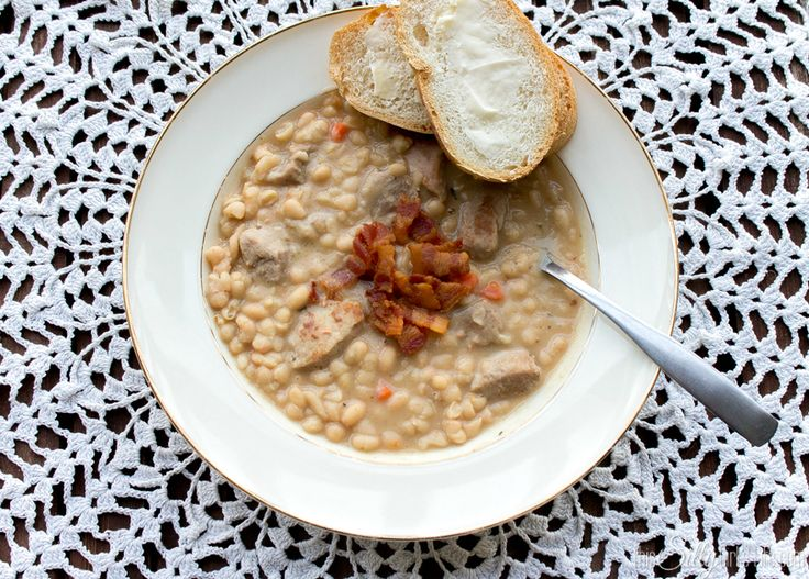 Creamy White Bean and Pork Stew, perfect for a chilly day! Large ...
