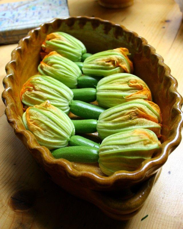 Stuffed zucchini flowers | On the Side | Pinterest
