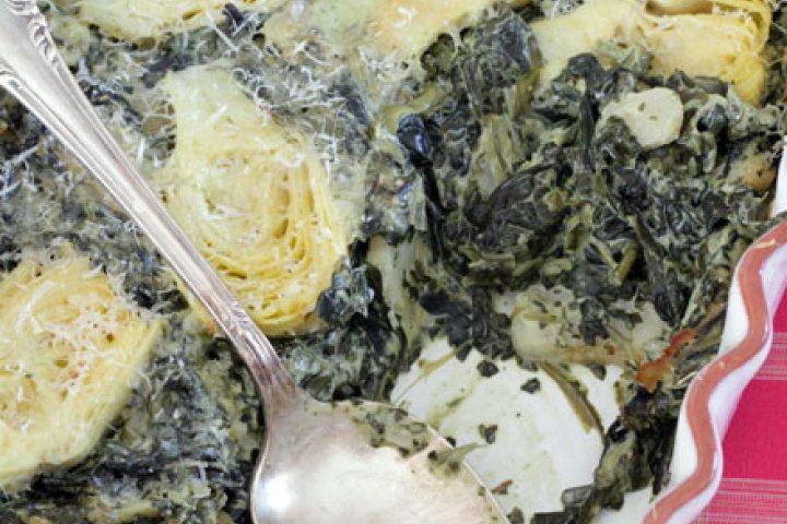 Spinach, Artichoke & Cream Cheese Casserole Recipe — Dishmaps