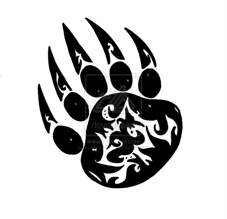 Bear paw tribal for my mom tattoo ideas pinterest for Tribal claw tattoo