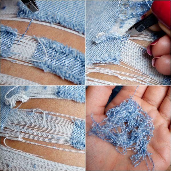 Diy ripped jeans tutorial | DIY Apparel | Pinterest