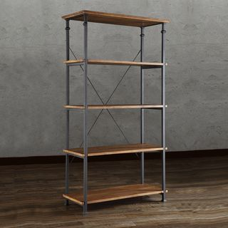 ETHAN HOME Myra Vintage Industrial Modern Rustic 40-inch Bookcase