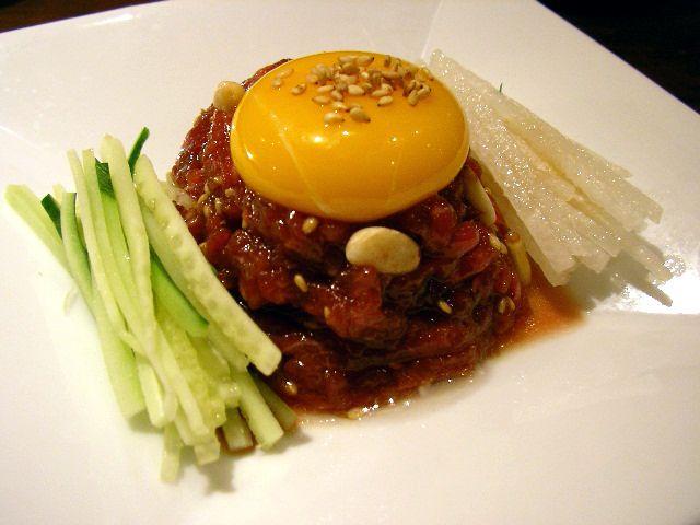 Korean steak tartar | korean food | Pinterest