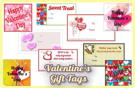 Valentine's Day Gift Tags--Choose from 10 printable tags for personalizing your gifts