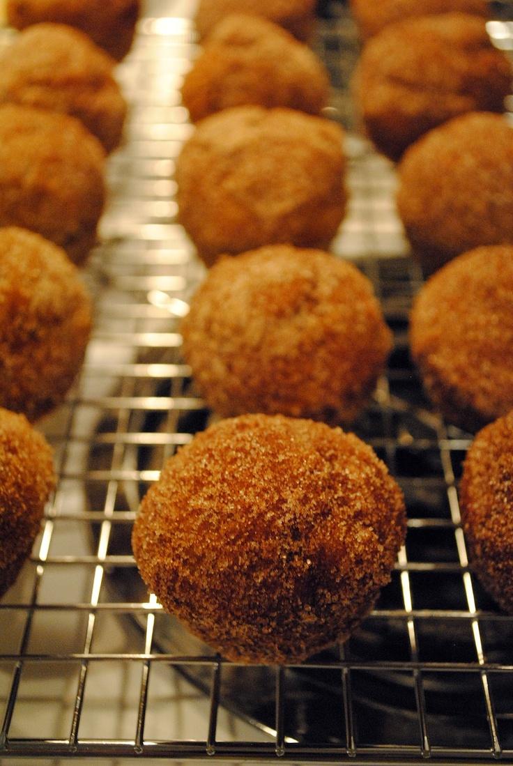 baked pumpkin donut holes | Dessert | Pinterest