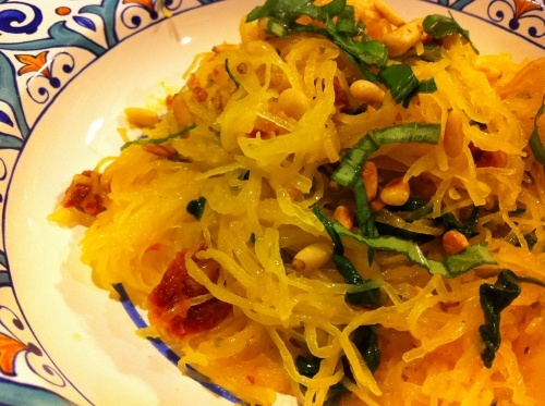 ... It's Not Pasta - Spaghetti Squash with Sun-dried Tomatoes and Spinach