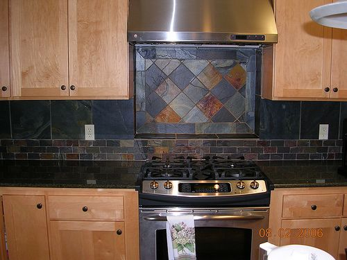 Slate Backsplash Kitchen Backsplash Pinterest