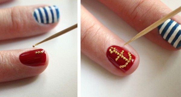 Nail Designs Using Only a Toothpick | Diy Nail art | Pinterest