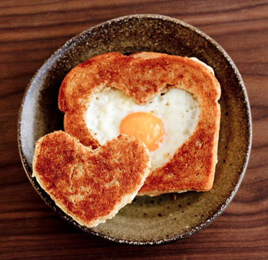 Valentine's Day Egg in the Basket from Petite Kitchenesse