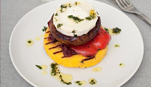 Goat Cheese And Polenta Stack Recipe on Yummly