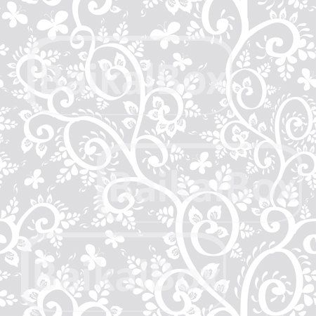 Vector vintage background seamless pattern with white ...