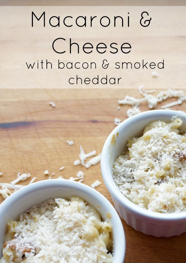 Macaroni and Cheese with bacon and smoked cheddar | Recipe