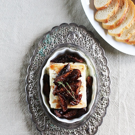 Appetizer Recipe: Roasted Feta Cheese with Fig-Thyme Compote Recipes ...