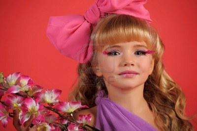Children fashion doll blond girl