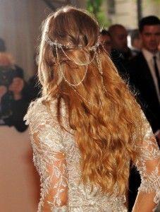 boho wedding hairstyle hair jewels