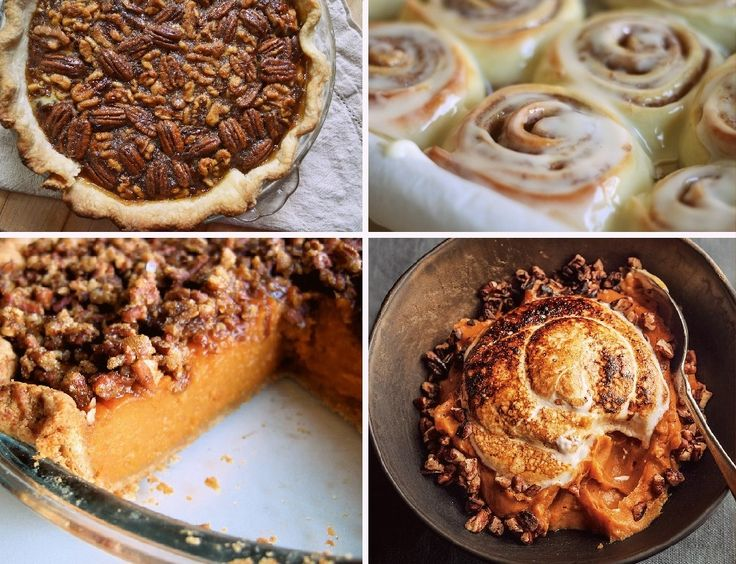 ... - Sweet Potato pie with a cinnamon roll crust and a pecan topping