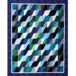 Wave runner quilt pattern CURVED PIECING Pinterest