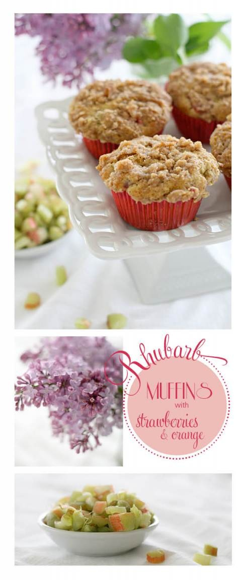 Strawberry rhubarb streusel muffins | Snacks and Sweets | Pinterest