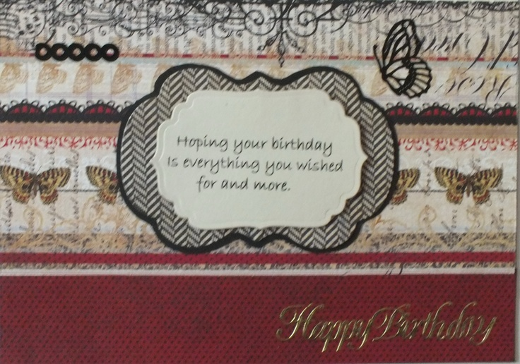 Inside of masculine birthday card.