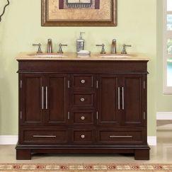 Bathroom Vanities on 48 Inch Double Sink Bathroom Vanity In Dark Walnut       Home Sweet H