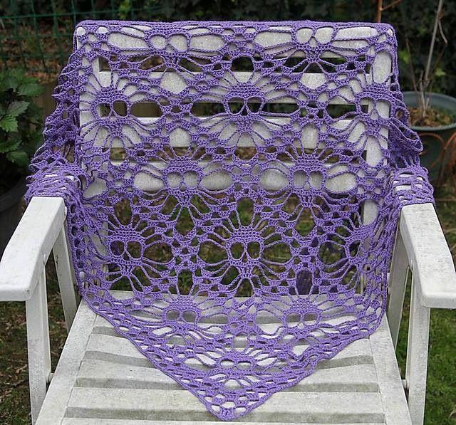 Crochet Pattern For Skull Shawl : Skull Shawl Crochet Pattern