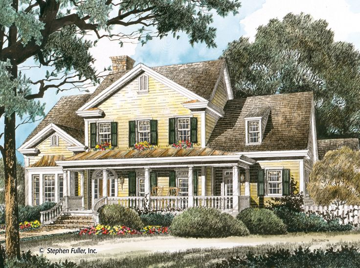 House plan timberlake stephen fuller inc for Home planners inc house plans