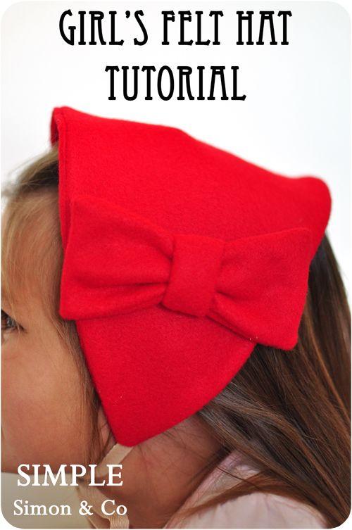 Girl's Felt Hat Tutorial