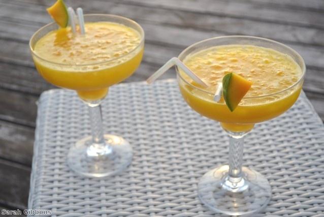 The perfect sunset cocktail - a frozen mango daiquiri