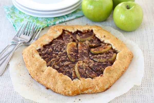 Apple Toffee Galette by @Maria (Two Peas and Their Pod)