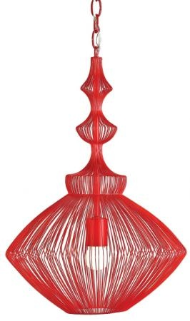 Gorgeous light! Cherry Red Wire Pendant   Eclectic Home