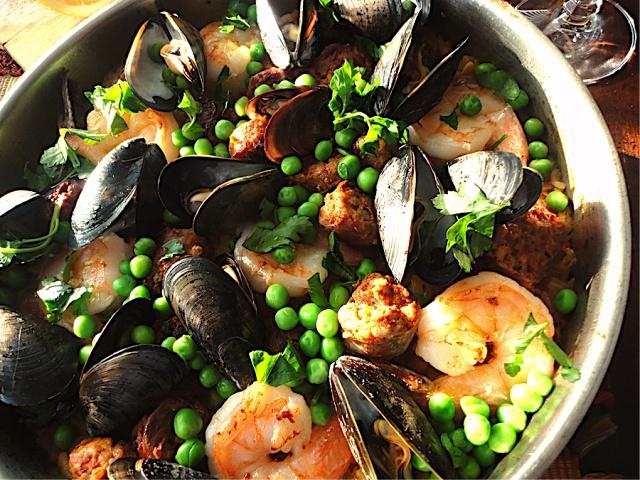 Seafood and Chorizo Paella | Mexican/ Tex Mex/Comida Espanola | Pinte ...
