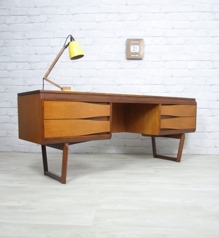 60s style furniture teak desk dressing table
