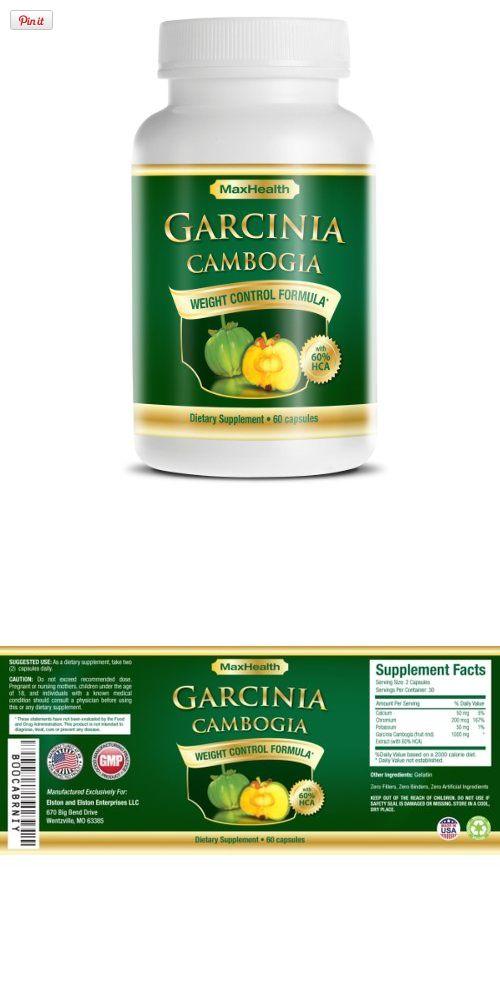 Garcinia Cambogia Extract Pure 1300 - Ultra Premium Fruit Rind Plus 60
