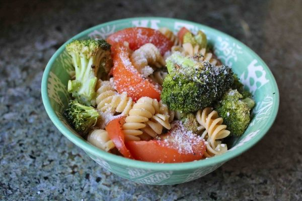 try this with whole wheat pasta and light italian dressing