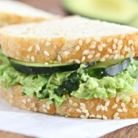 smashed chickpea amp avocado salad sandwich