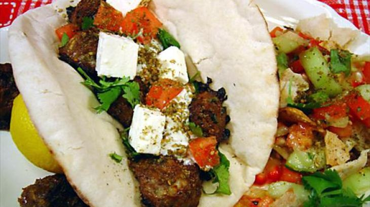 Grilled Mediterranean Kebabs on Pita | Recipes | Pinterest