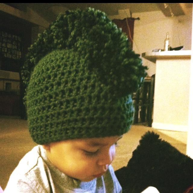 Mohawk crochet beanie Crochet Baby Beanies Pinterest