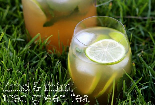 Lime and Mint green iced tea | Fitness & Health & Diets | Pinterest
