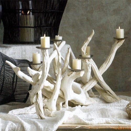 Driftwood candle centerpiece beach crafts pinterest