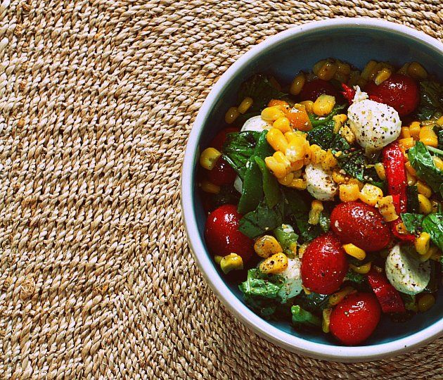 Caprese Corn Salad: Clean Out Your Freezer Dish!