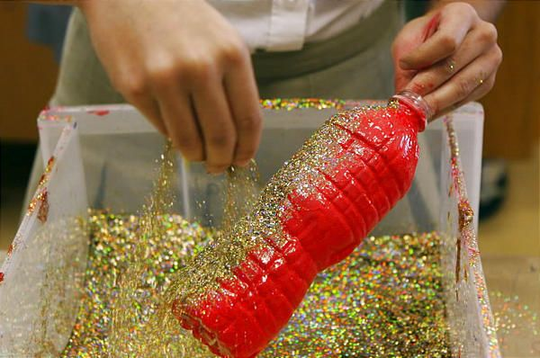 Plastic bottle decorations recycle and upcycle pinterest for Plastic bottle decoration