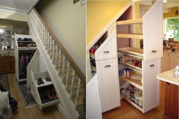 pantry storage under stairs for the home pinterest